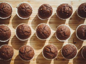 coffee flavored muffins are a great low calorie breakfast option