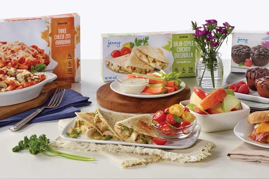 A selection of Jenny Craig meals