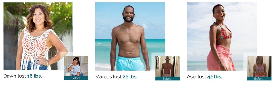 weight loss testimonials from customers