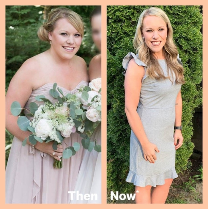 Emily shares her weight loss results