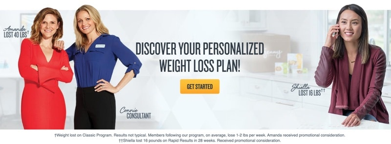 a Jenny Craig consultant with her client