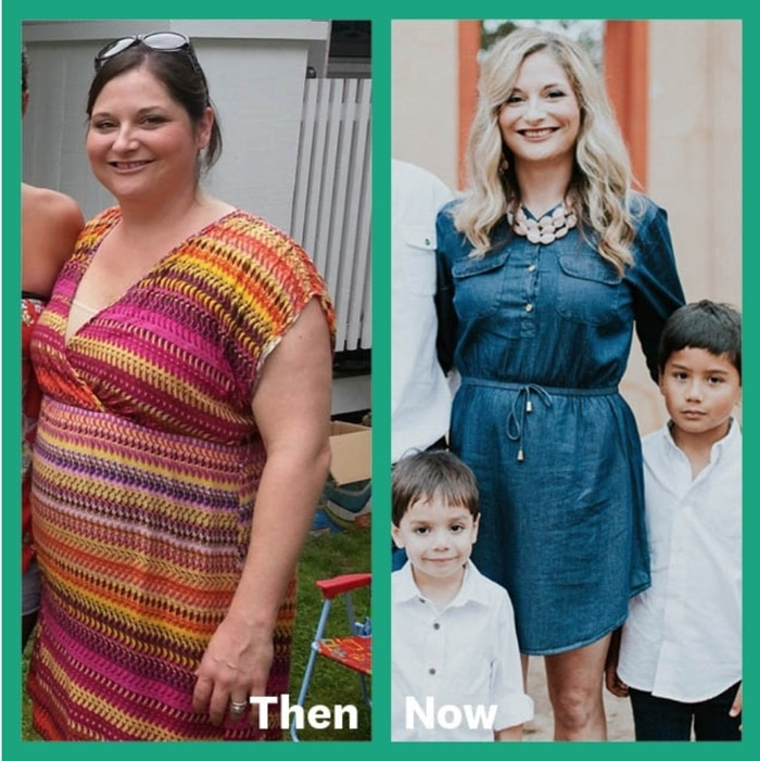 jennifer shares her before and after pic