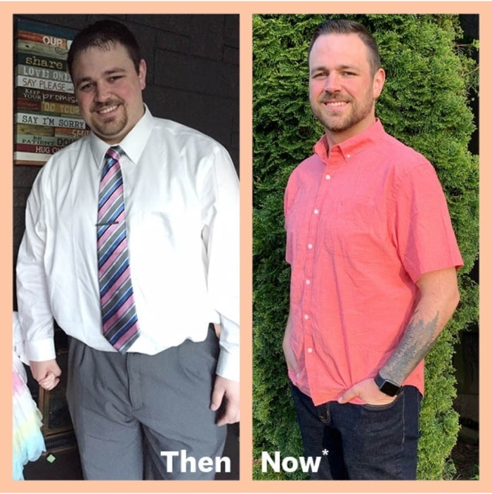 Josh shows off his 65 LB weight loss