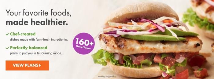 a sandwich from Nutrisystem's frozen food menu