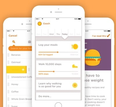 the noom coaching app on an iphone
