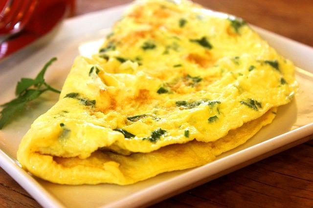 an Omelet ready for breakfast
