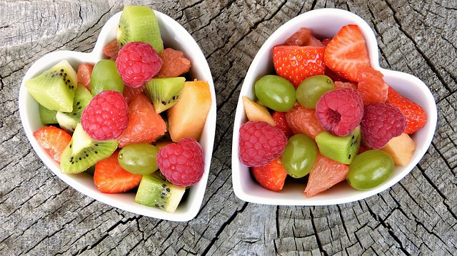 bowls of mixed fruit