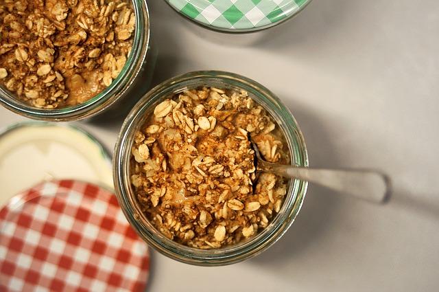 a jar of oats
