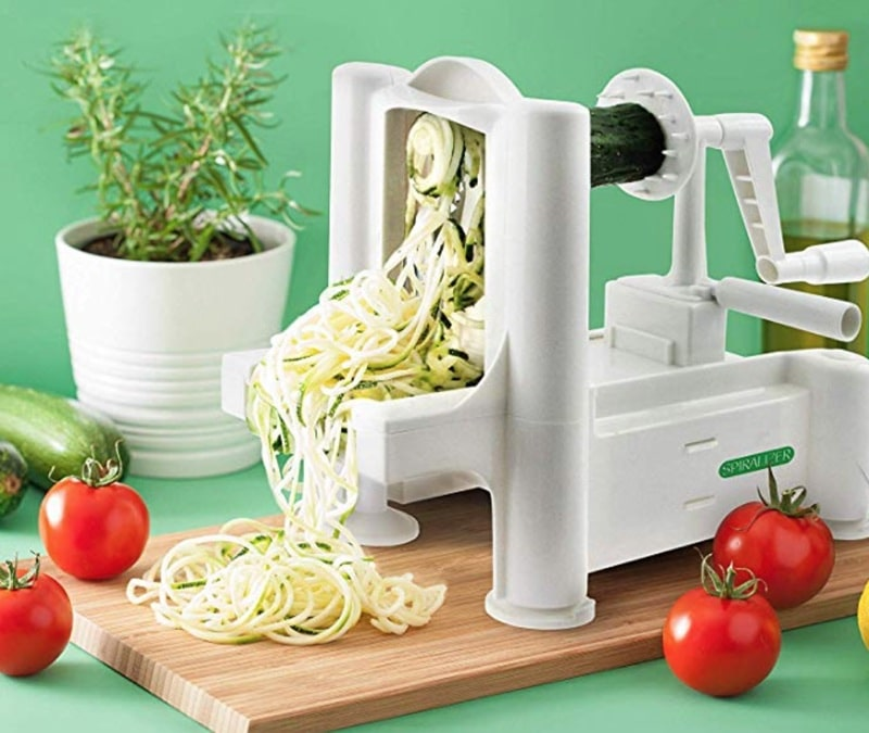 a vegetable spiralizer