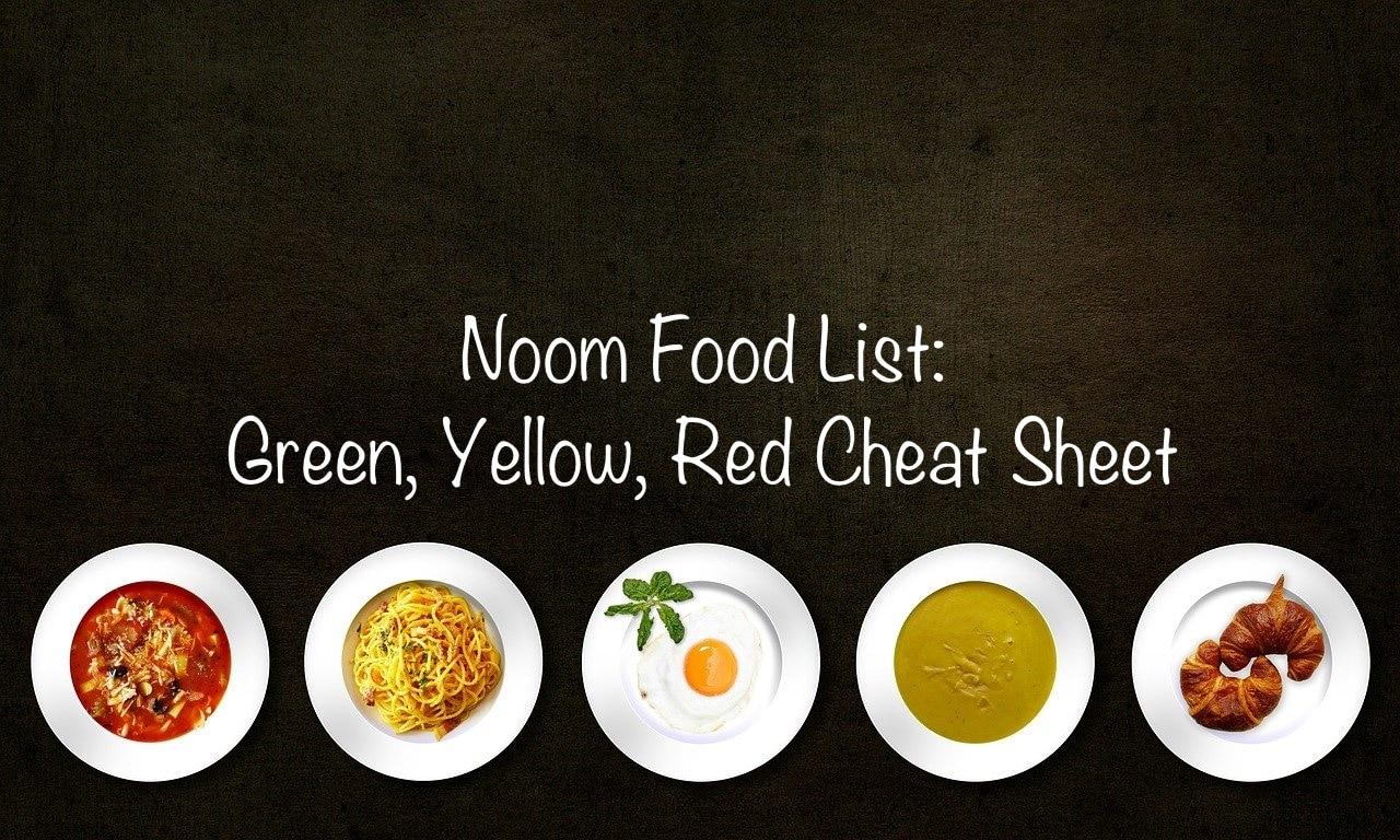 2020 Noom Food List Green Yellow Red Cheat Sheet Pdf