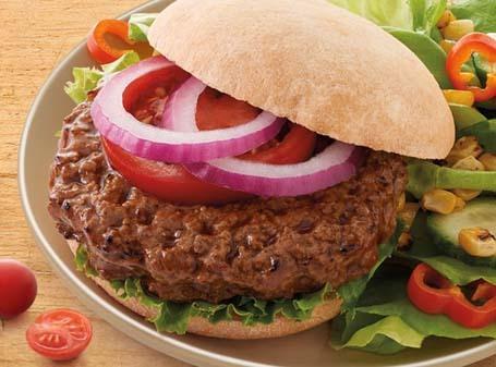 a hamburger from their frozen menu for dinner