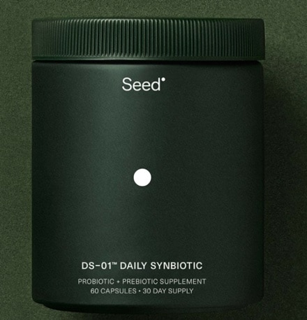 a container of Seed synbiotics