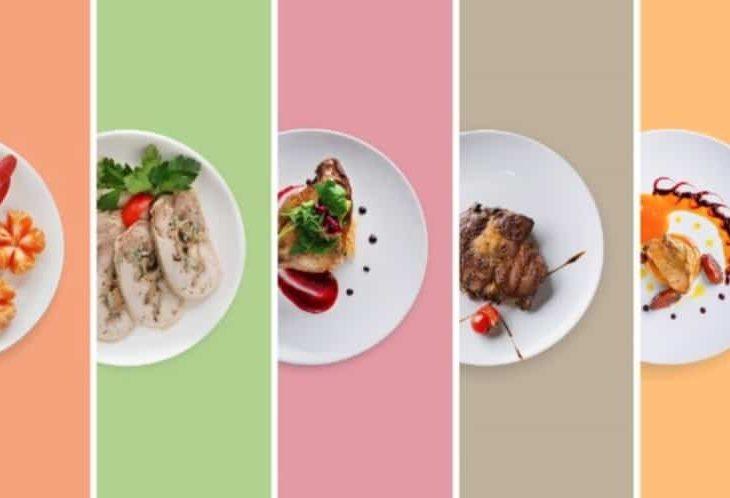 several plates of optavia meals