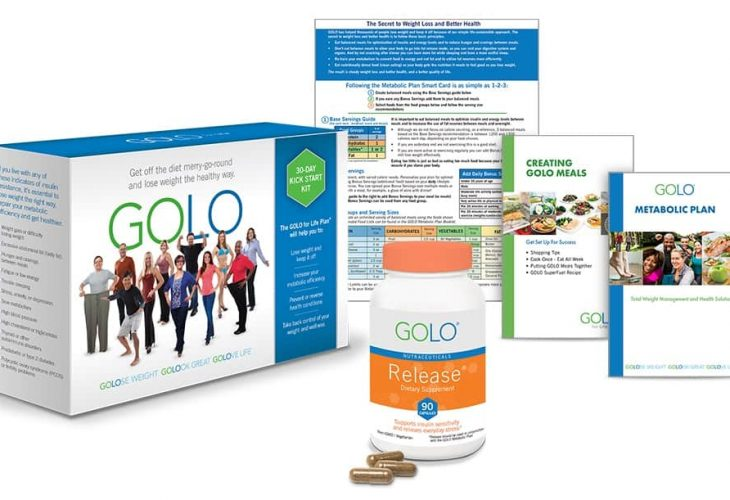 a selection of Golo for life products